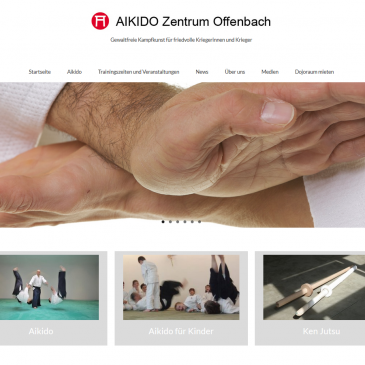 Aikido Zentrum Offenbach Webpage