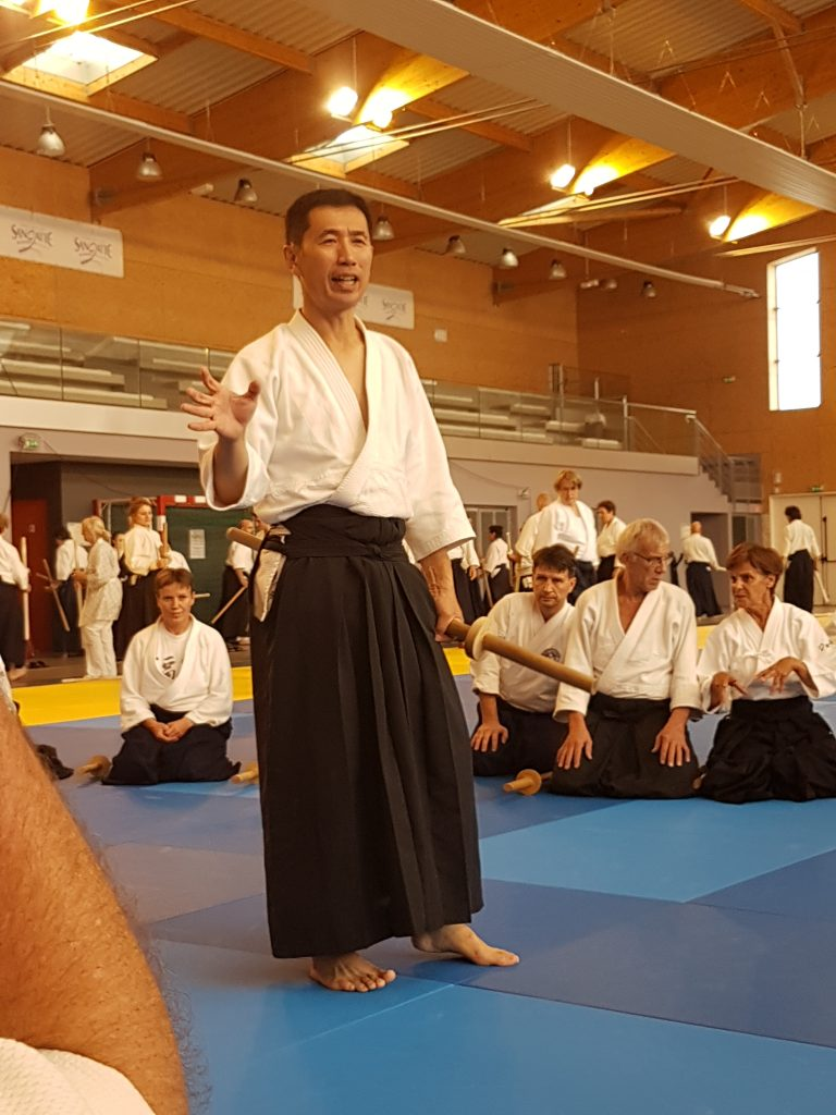 The first training - Udagawa sensei teaches Kihon Tachi