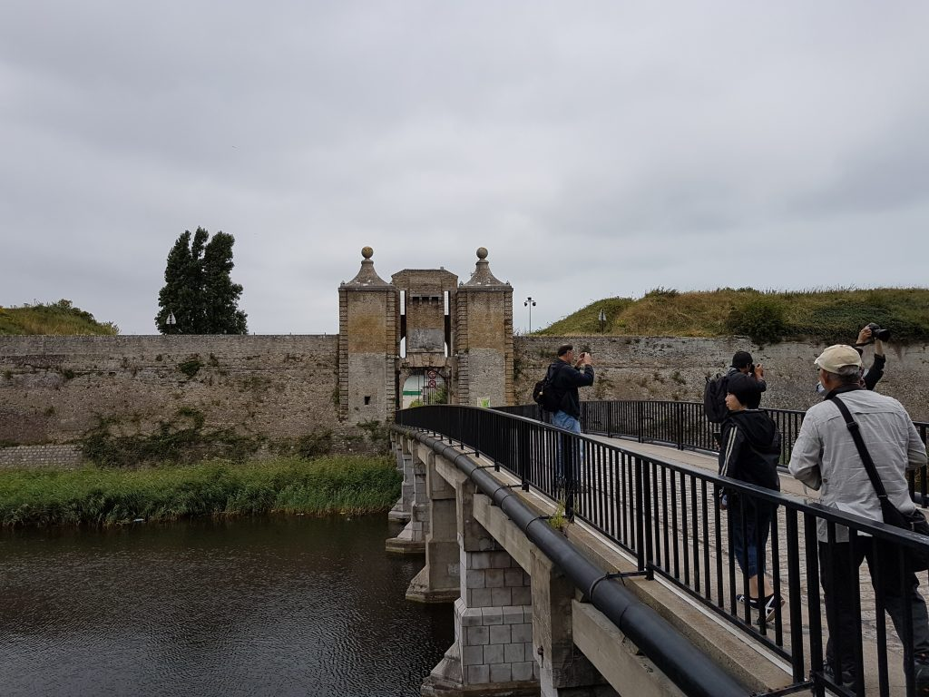 Excursion on rest day. The old fortification in Calais.