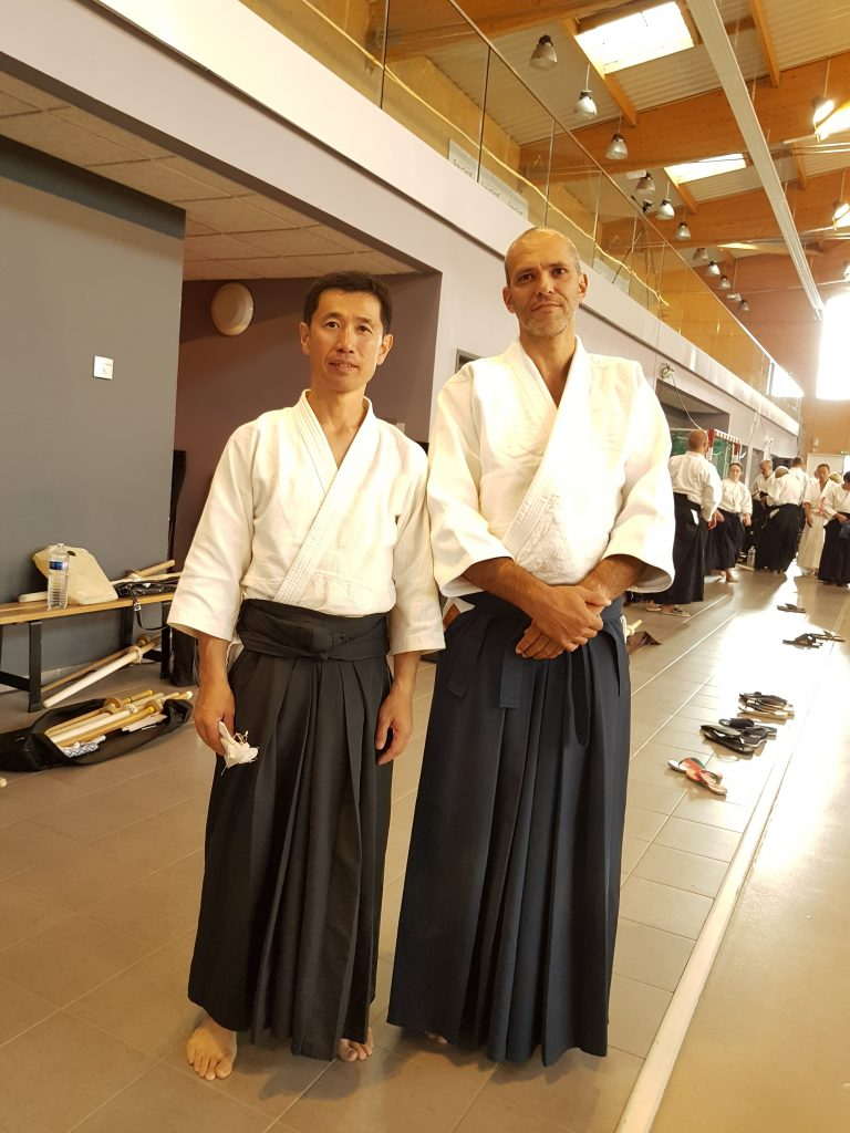 Udagawa Sensei and Markus, after the end of the embu preparations.